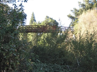 Under Menlo: Willow Place bike/pedestrian bridge