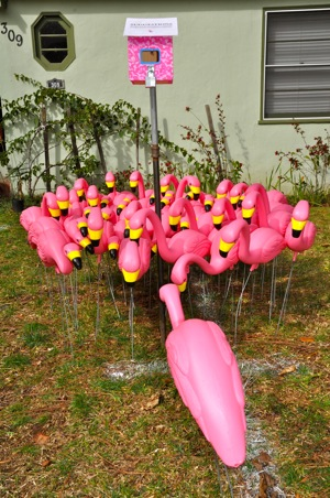 flamingo art in Menlo Park