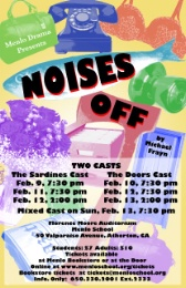 Menlo School poster for Noises Off