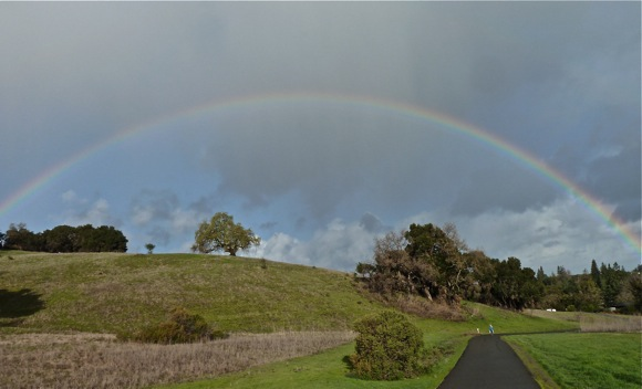 rainbow over mid-Peninsula