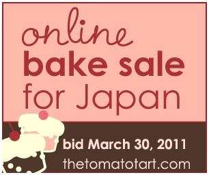 Online bake sale for Japan