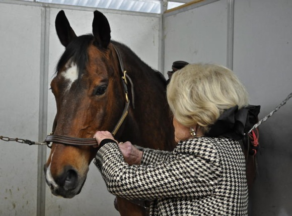 Harriet Quarre with her horse