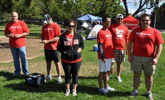 Walgreen's team at 2010 Menlo Park Relay for Life