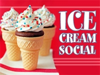Ice cream social at Atherton Library