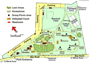 map of Flood Park in Menlo Park