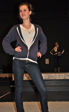 M-A senior rehearsing for annual fashion show