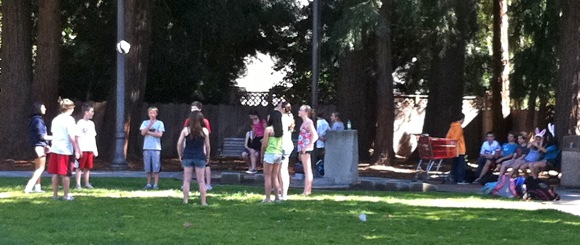 Summer weather brings kids and bunny ears to Fremont Park