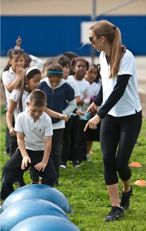 Ashley Riley leading Fit Kids program