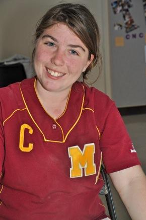 Hannah Rosenfeld, producer of Hairspray and catcher, M-A Bears softball