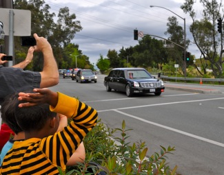 Now this is a spotted! President Obama in Menlo Park