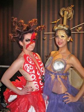 Spotted: Vizions duo gets creative with hair for Trashion Show celebrating Earth Month