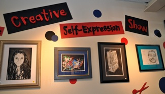 Creative Self Expression show at Great Frame Up in Menlo Park