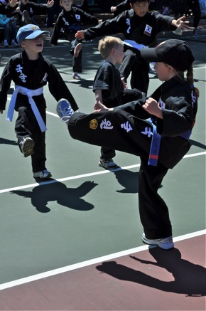 Kuk Sool Won of Menlo Park kick-a-thon