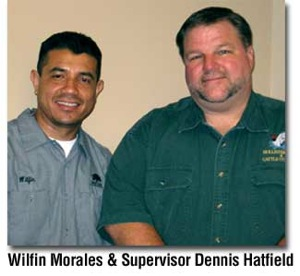 Wilfiin Morales and Dennis Hatfield