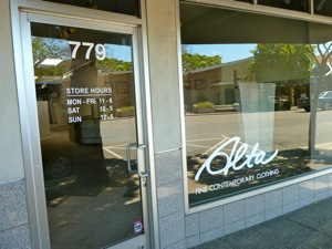 Alta clothing store in Menlo Park