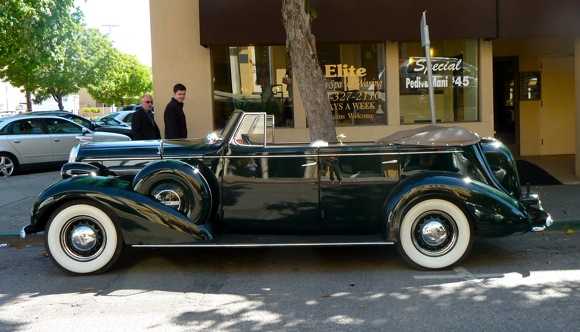 1936 Buick Roadmaster parked in Menlo Park, CA