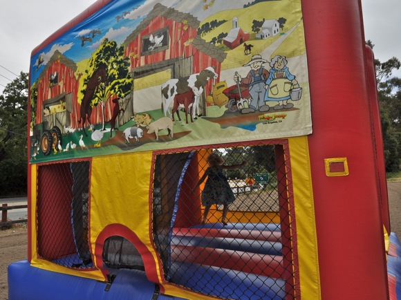 Jumpy house at Webb Ranch