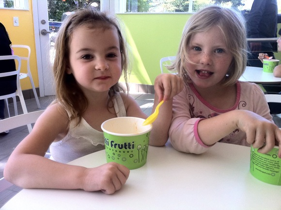 young customers at Tutti Frutti