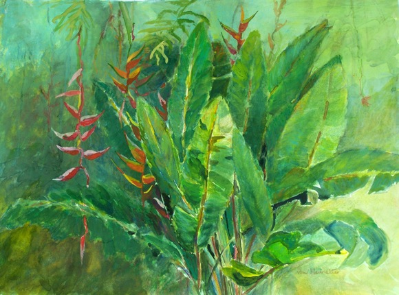 Tropical Jungle by artist Barbara von Haunalter