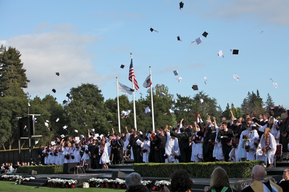 2011 Sacred Heart Preparatory graduation in Atherton, CA