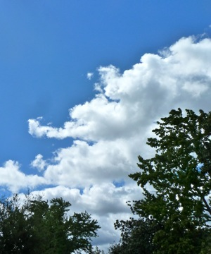 clouds and blue sky in Menlo Park