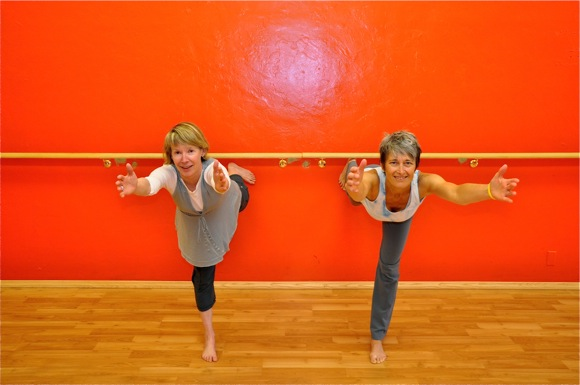 Cheryl Acheson and Cristini Garelli, yoga teachers in Menlo Park