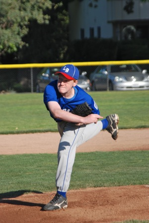 pitcher for Left Bank, Menlo-Atherton Little League