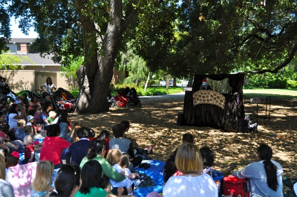 Spotted: Big crowd for Puppet Art Theater