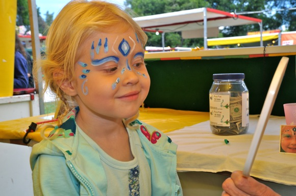 Face painting at Nativity Carnival