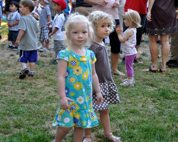 girls at summer concert in Fremont Park