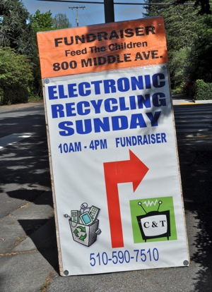 recyling event in Menlo Park on June 12