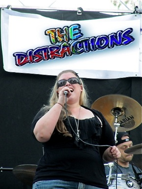 The Distraction lead vocalist Christina Martin