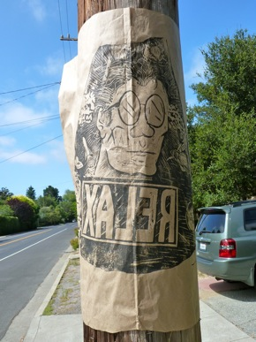 street art posters in west Menlo Park