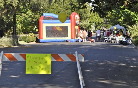 University Drive block party