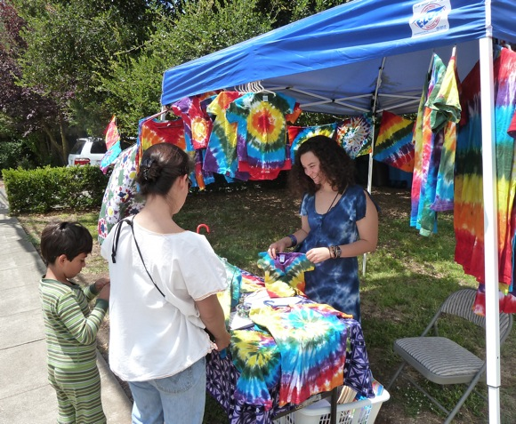 Tie Dye your Summer stand in west Menlo Park