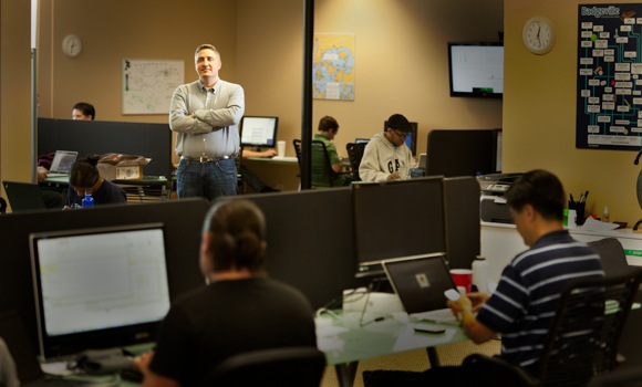 Badgeville CEO Kris Duggan in company's downtown Menlo Park office