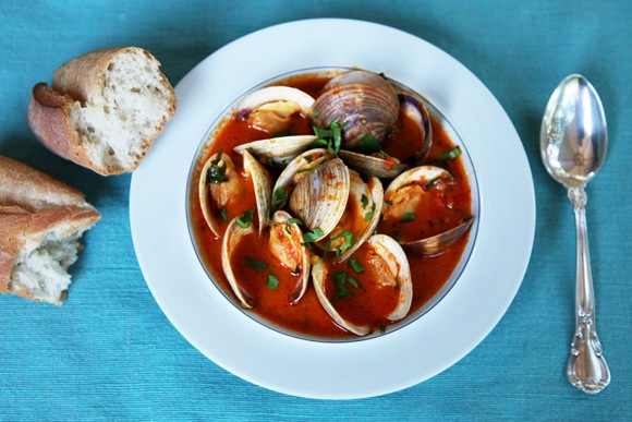 Get a whiff of sea air with Gillian's Clams in Saffron-Infused Broth