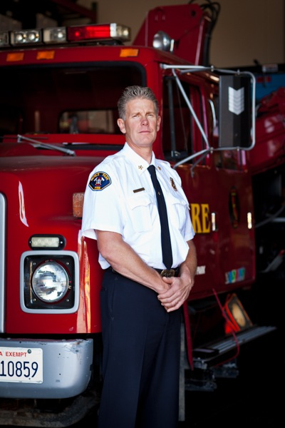 Menlo Park Fire District Chief Harold Schapelhouman