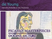 Sept. 3 lecture about Picasso art works currently on display at DeYoung Museum