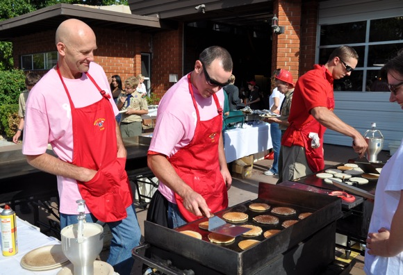 pancake breakfast at Menlo Park Fire District