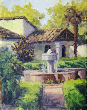 Call for artists at Plein Air event at Allied Arts Guild in Menlo Park