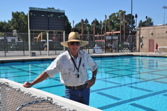 Menlo-Atherton High School water polo coach Dante Dettamanti