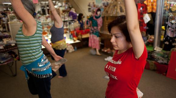 Belly dancing class at Menlo Gift Bazaar