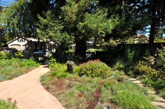 front yard of a Menlo Park home