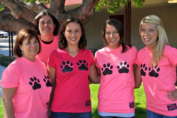Bear Ta Ta's - Menlo Atherton High School teachers participating in 3-Day for the Cure in San Francisco