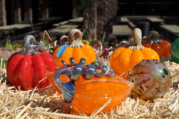 Glass pumpkins at Posh Squash 2010