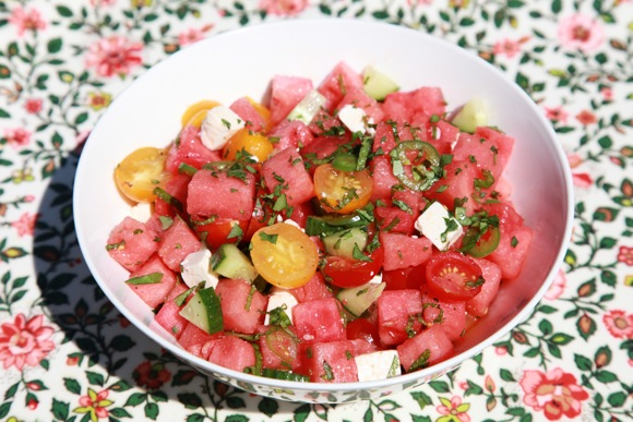 Gillian's ode to watermelon, salad that is