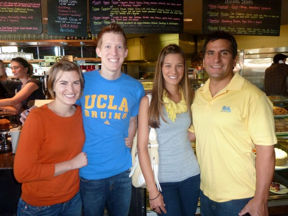 UCLA Bruin fans at Cafe Borrone