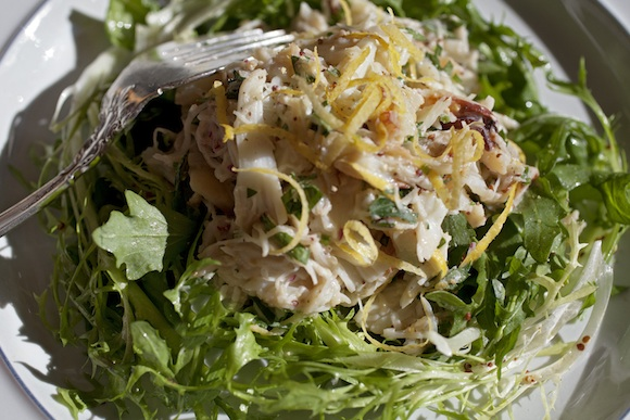 An obsession re-imagined: Gillian's Dungeness crab salad
