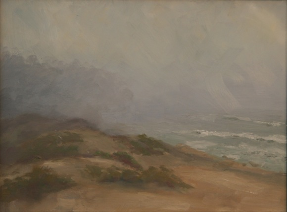 Pescadero Dune in Winter, oil painting by Decker Walker